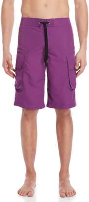 John Galliano Purple Longline Swim Trunks