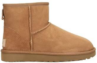UGG Mini Classic Short Boots In Beige Suede