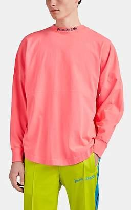 Palm Angels Men's Logo Cotton Oversized Long-Sleeve T-Shirt - Pink