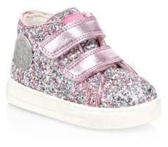 Naturino Baby's& Little Girl's Falcotto Glitter Sneakers - Pink Multi - Size 19 EU/ 3 US (Baby)