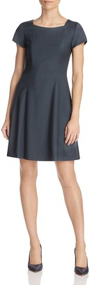 Theory Elex Fit-And-Flare Dress $365 thestylecure.com