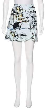 Tibi Abstract Print Mini Skirt w/ Tags