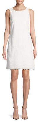 Eliza J Mesh Overlay Shift Dress