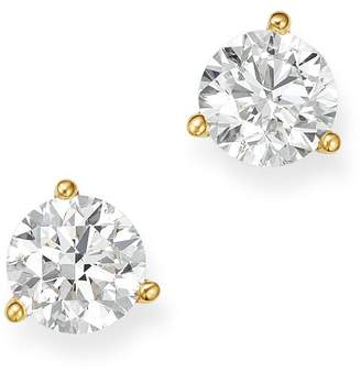 Bloomingdale's Certified Diamond Stud Earrings in 18K Yellow Gold Martini Setting, 1.0 ct. t.w. - 100% Exclusive