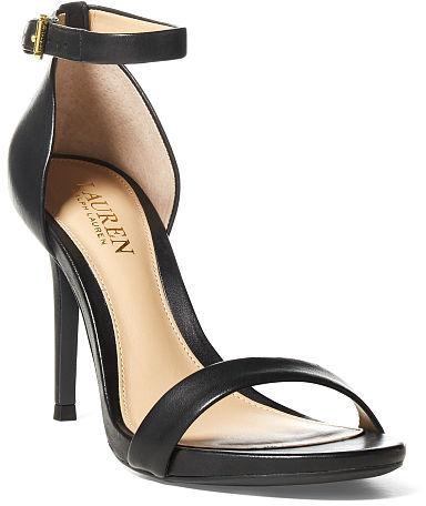 Ralph Lauren Lauren Tarah Leather Sandal