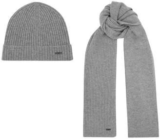 2d512f5d8ea Hat And Scarf Grey Men - ShopStyle UK