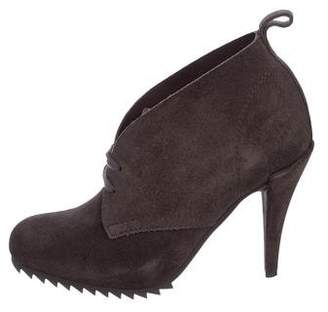 Pedro Garcia Suede Round-Toe Boots