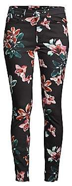 7 For All Mankind Women's Skinny Floral Ankle Jeans