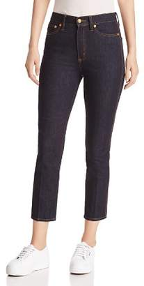 Tory Burch Rebecca High-Rise Cropped Skinny Jeans in Rinse Wash