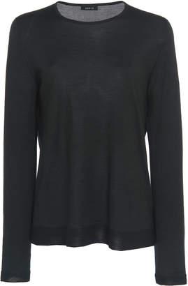 Akris Silk And Cashmere-Blend Crew Neck Sweater