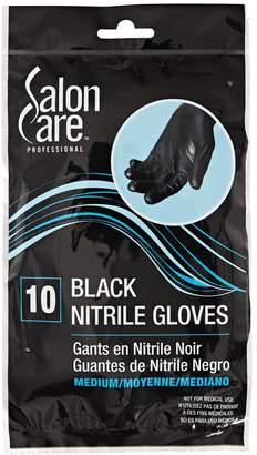 Salon Care Medium Black Nitrile Gloves