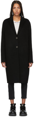 Acne Studios Black Avalon Double Trench Coat