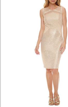 Melrose Sleeveless Embellished Sheath Dress