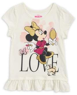 Nannette Little Girl's Minnie Mouse Love Graphic Tee