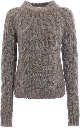 c1e8757bfcb Grey Cable Knit Sweater - ShopStyle