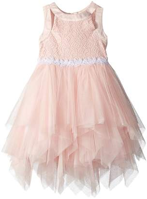 Us Angels Tiered Mesh Dress Girl's Dress