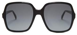 fb59275cfa Givenchy Oversized Square Frame Acetate Sunglasses - Womens - Black