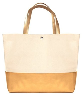 Cathy's Concepts Monogram Canvas Tote - Metallic $52 thestylecure.com