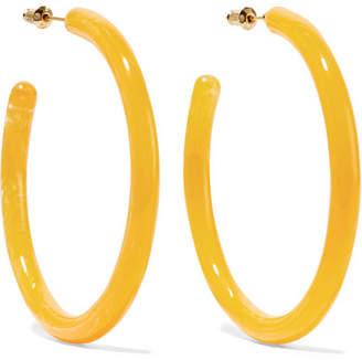 Cult Gaia Geneva Oversized Acrylic Hoop Earrings - Yellow