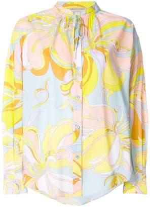 Emilio Pucci printed shift blouse