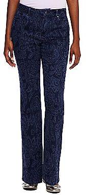 Liz Claiborne Straight-Leg Paisley Jeans