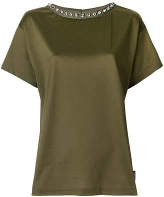 Moncler embellished collar T-shirt