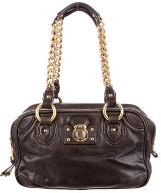 Marc Jacobs Marc Jacobs Chain-Link Leather Shoulder Bag