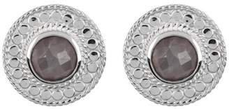 Anna Beck Sterling Silver Grey Sapphire Stud Earrings