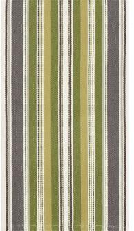 Kadden Stripe Green Dishtowel