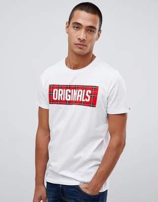 Jack and Jones Originals T-Shirt With Check Box Logo