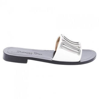 Christian Dior White Leather Sandals