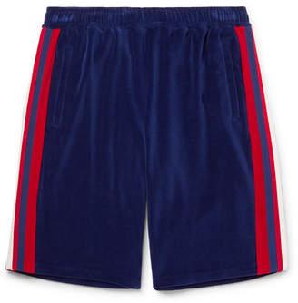 Gucci Grosgrain-Trimmed Velour Shorts