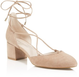 Kenneth Cole Toniann Lace Up Low Heel Pumps $130 thestylecure.com