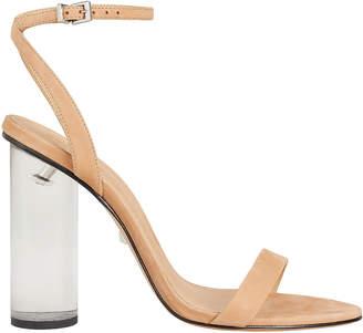 Schutz Valencia Cylinder Heel Suede Sandals