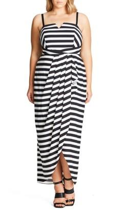 Plus Size Women's City Chic Fair Lady Convertible Maxi Dress $103.99 thestylecure.com