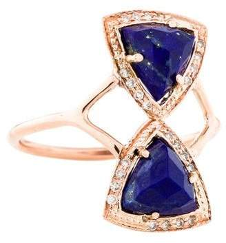 Jacquie Aiche 14K Lapis Lazuli & Diamond Cocktail Ring