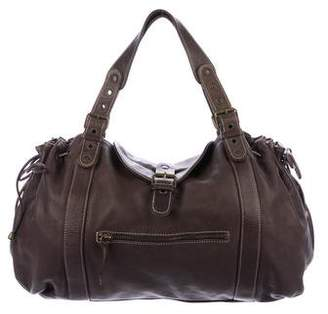 Gerard Darel Leather Drawstring Hobo