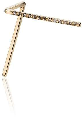 Shihara 18k yellow gold diamond post earring