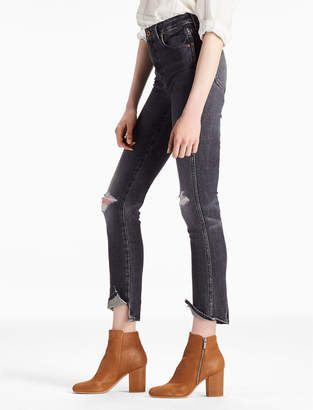 Lucky Brand High Rise Tomboy Cropped Straight Leg Jean With Spat Hem