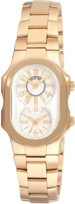 Philip Stein Teslar Women's 1GPMWGSSGP Signature Yellow Goldtone Dial Watch