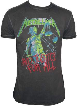 Amplified Vintage Men T-Shirt Official Metallica And Justice For All L