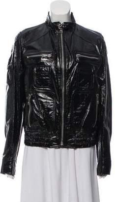 Dolce & Gabbana Patent Leather Moto Jacket w/ Tags