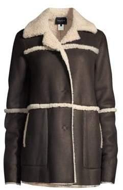 Lafayette 148 New York Rosalind Shearling-Trim Coat