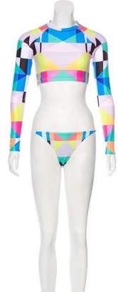 Mara Hoffman Long Sleeve Two-Piece Swimsuit