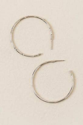 francesca's Elianna Medium Silver Hoops - Silver