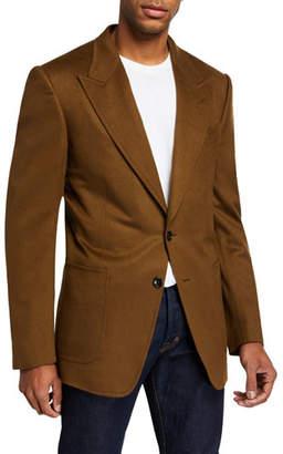 Tom Ford Men's Shelton Peak-Lapel Cashmere Jacket
