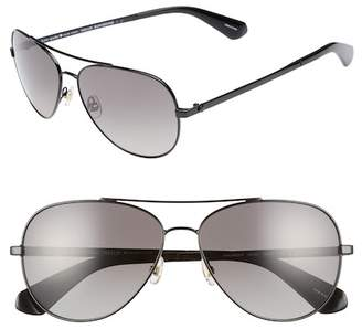 Kate Spade avaline 2\u002Fs 58mm polarized aviator sunglasses