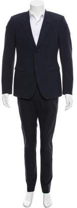 Burberry Striped Two-Piece Suit