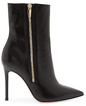 Gianvito Rossi Women's Trinity Zipper Leather Ankle Boots