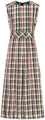Burberry Sleeveless checked dress